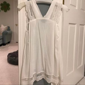 Urban Outfitters White Lace Shirt